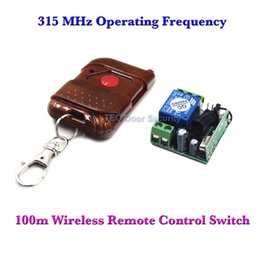 Wholesale Door Open Switch - Wholesale- 100m Wireless Remote Control Switch + Receiver for Access Control Open Door 1CH Transmitter Receiver Access 315 MHz