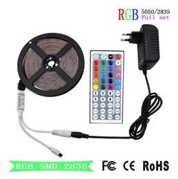 Wholesale 24v neon - YON RGB LED Strip SMD 2835 LED Light DC 12V 5050 Strip 5M 10M Waterproof Flexible Ribbon RGB Neon Tape+Controller For Home Lighting