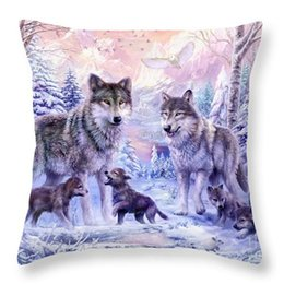 Wholesale Polyester Pillow Filler - Cushion(No Filler) Mom's Love Polyester Family affection Sofa Car Seat happy family Home Decorative Throw Pillow Case Sofa Home Decor