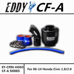 Wholesale Intake Honda Civic - Free Shipping For Honda Civic 1.8 2.0 2006-2014 High Performance CF-A Carbon Fiber Cold Air Intake System Air Filter