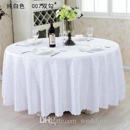 Wholesale 126 mantel de tabla cubierta de la tabla redonda para el banquete de boda decoración de la banquete mesas de tela de satén ropa de mesa mantel de la boda textiles para el hogar