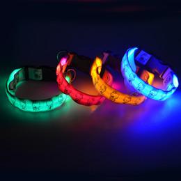 Collare a dog pet LED collana a lume di candela scintillante in nylon collare da addestramento collare per cani da