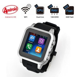 Wholesale Cell Watch Dual Sim - PW308S MT6572 Dual core Android 4.4 system smart watches mobile cell phone with wifi camera GPS WCDMA 3G support SIM card whatsapp
