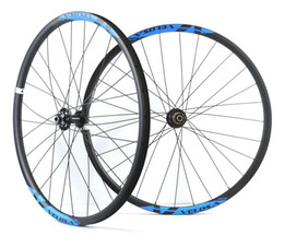 Wholesale mountain bike 29er wheels - Velosa 29inch MTB carbon wheelset, 29er carbon mountain bike XC wheels hookless rim tubeless compatible free ship