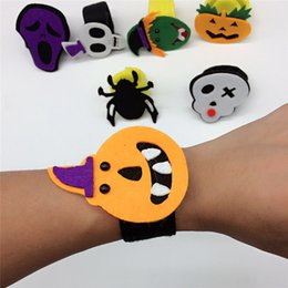 Wholesale Multi Ring Bracelet - Halloween Cartoon Pumpkin Pat Hand Ring Clap Circle Bracelet Decor For Children Party Festive Decoration Multi Styles Halloween Tool