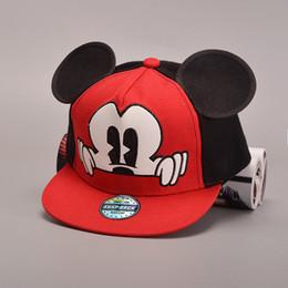 Wholesale Hats Ear Mouse - Wholesale- 2016 cartoon cute Mickey baseball cap big ear Mouse Snapback Hats brand Hip-hop cap Bone aba reta gorra Women Chapeau