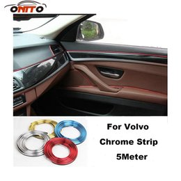 Wholesale Chrome Car Decoration Strip - Hot sale 5 Meter car decorative chrome strips car embelm decoration stips for XC90 XC70 XC60 V40 V50 V60 V70 V90 S40 S50 S60 S70 S90 emblem
