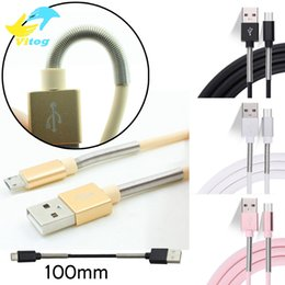 Wholesale usb cable protector - Spring protect 1M Micro USB Type-C Cable Charger Port Data Sync 2A Fast Charging Spring Protector For i7 Samsung Android s8 s8 plus