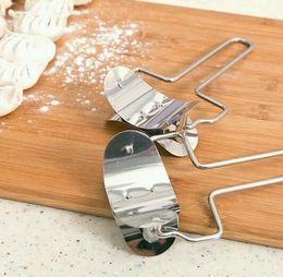Formenbaumaschinen online-Hot Bar Edelstahl Teigpresse Dumpling Pie Ravioli Mold Maker Kochen Gebäck Werkzeuge Kreis Knödel Gerät Knödel, Der Maschine