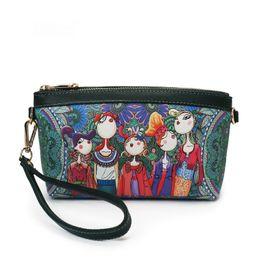 Wholesale Wristlet Purse Designer - fairy forest women wristlet crossbody shoulder bag famous brand leather purses wallet clutch bags designer handbag