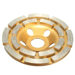 Wholesale Disc For Grinding Wheel - 100mm Diamond 2 Row Segment Grinding Wheel Disc For Concrete Masonry Stone Marble