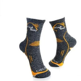 Wholesale Wholesale Soccer Drop Ship - FBA Drop Shipping Mountain Cycling Socks Deodorant High Basketball Running Sport Socks Road Bike Bicycle Cycling Socks For Men Winter Autumn