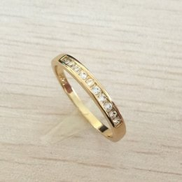 Wholesale Cute Beautiful Ring - 2017 New High Qulity Trendy Styles 925 sterling gold plated fashion charm Beautiful cute Crystal Stone Wedding ring jewelry