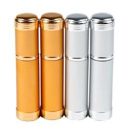 Wholesale Atomiser Spray Glass Bottle - empty perfume bottle 5ml Aluminum glass Anodized Compact parfum atomiser fragrance mini spray scent-bottle fast shipping F20171601