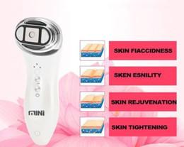 Wholesale led light therapy microcurrent - Portable Mini HIFU Ultrasound Facial Skin Care Machine home use Hifu Face Lift RF Skin Rejuvenation Machine