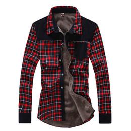 Wholesale Thickening Plaid Shirt - Wholesale- New 2016 autumn and winter Korean men long sleeve shirt thickening warm shirt Lapel Casual Plaid Men's shirts 70