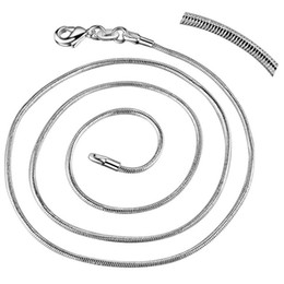 """Wholesale Snake Necklaces Stainless Steel - Wholesale- 10pcs snake chain free shipping silver plated Fashion jewelry Necklace chain 16""""-30"""" ZAP001"""