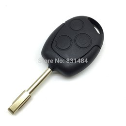 Wholesale Ford Focus Key Cover - 3 Buttons Blade Uncut Remote Car Key Shell Case Fob Covers For Ford Focus Mondeo Festiva Fusion Suit Fiesta KA