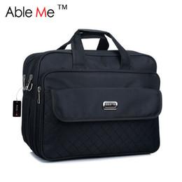 Wholesale Big Computer Bag - Wholesale- AbleMe Super Large Male Briefcases Multi-Layered Portable Big Laptop Bag Fashion Business Men Oxford Briefcases For Men Handbags