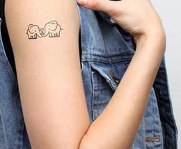 2019 bottiglie di crema di corpo all'ingrosso All'ingrosso- Tatuaggi temporanei Impermeabile tatuaggio adesivi body art Pittura per la decorazione di eventi festa elefante nero all'ingrosso