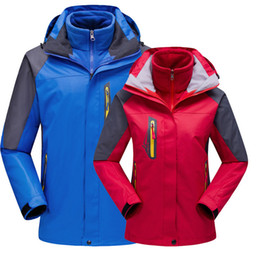 white waterproof clothing Coupons - Couple Outdoor Softshell Jackets Men's Women's Anti-abrasion Windstopper Camping Sport Climbing Winter Jacket Ski Warm Coat Clothing