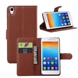 Wholesale Cellphones Lenovo - High Quality luxury Leather Case for Lenovo S850 Case For Lenovos S 850 Cover phone housing Flip cellphone Cover