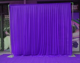 Wholesale Black Stage Curtains - 3M*3M backdrop party background valance wedding backcloth stage curtain (10ft*10ft)