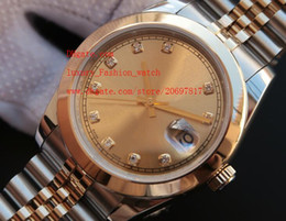 Wholesale Diamond Factory Supplier Watch - Factory Supplier AAA quality Luxury Brand Sapphire Automatic Mechanical Stainless 41mm 126303 2 Tone Gold Diamond Mens Watch Watches