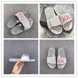 Wholesale Basketball Sandals - 2017 Real Summer KAWS X Air Retro 4 Slippers Glow In Dark XX Slippers Hydro IV 4s Sandals Mens Sports Casual Slides Slipper size 40-46