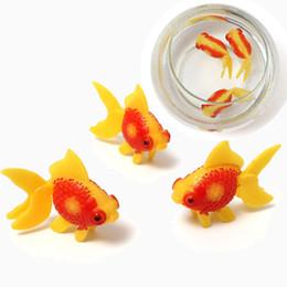 Wholesale Fish Tank Toys - Wholesale-3PCS Plastic Swimming Home Decoration Fish Gold Fishes Tank Home Aquarium Decoration Fish Tank Ornament Decor Kids Fishing Toys