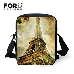 Wholesale Champagne Towers - Wholesale- 2016 New Fashion Paris Eiffel Tower Print Women Ladies Handbag Cross Body Shoulder Bags Girls Messenger Bags Free Shipping