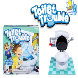 Wholesale Tricky Toilet Toy - 2017 New kids toy Toilet trouble game Washroom Tricky Toys Funny Game parents-kids friends play together for fun as a gift b1368