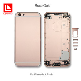 """Wholesale Power Buttons - For Apple iPhone 6s 4.7"""" Back Battery Cover Housing Replacement Metal With Card Holder + Volume Control + Power + Mute Button Free Shipping"""