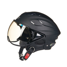 Wholesale E Bicycles - Wholesale- Summer motorcycle helmet Electric bicycle helmet Vintage Scooter half helmet Moto casco Men women's E-bike capacete