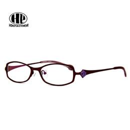 quadros ópticos coloridos atacado Desconto Atacado-2017 colorida menina óculos personalidade senhora óculos lente clara vintage frame ótico subiu mulheres óculos