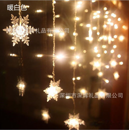 Wholesale Led Christmas Light Curtain Snowing - Wholesale-Led curtain string with snows pendant, holiday decoration light 3.5m 35 50 65cm down 96LEDs8 modes lighting for XMAS