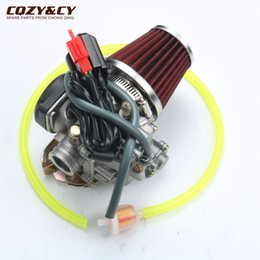 Wholesale Scooter Modified - GY6 50cc 100cc 20mm Big Bore Carb Carburetor +The modified air filter+ 80-100 # is suitable for 139QMB 139QMA Scooter Moped ATV