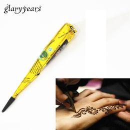Al por mayor- 1 Pieza Color negro indio Henna Paste Cono Belleza Mujeres Mehndi Finger crema para el cuerpo pintura DIY Dibujo temporal para tatuaje plantilla desde fabricantes