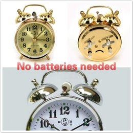 Wholesale Clockwork Wholesale - wind up Mechanical Clockwork HeFei867 No batteries needed alarm clock Copper core 2 Colors Pointer Home Furnishing decoration Antique Styles