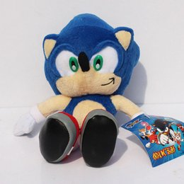 Wholesale Sonic Hedgehog Wholesale - Wholesale-23CM 9inch Sonic Hedgehog Toys Anime Game Figures Sonic Plush Soft Doll 1pcs Free Shipping