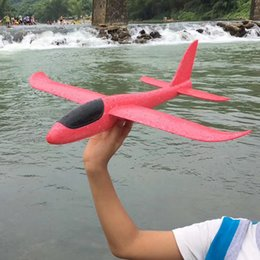 Wholesale Wholesale Foam Glider - 38cm foam airplane handlaunched glider aircraft arm exercise balance force toys for children adult random color