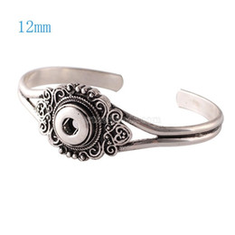 Wholesale Fit Jewelry Design - Wholesale-Newest Design Snap Bracelet&Bangles Silver Plated Charm Bracelets For Women Fit 12mm Partnerbeads Snaps Button Jewelry KS0901-S