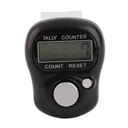 Wholesale Row Counter Electronic - Wholesale- Mini Digit LCD Electronic Digital Golf Finger Hand Held Tally Row Counter High Quality Well Sell