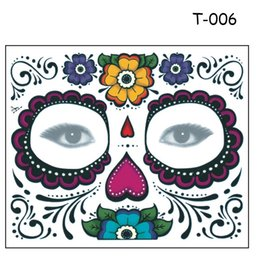 Wholesale Halloween Temporary Tattoo Eye - Disposable Eyeshadow Sticker Magic Eye Face Lace Style Waterproof Temporary Tattoo For Beauty Makup Stage Halloween Party 2000pcs