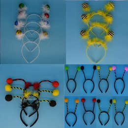 Wholesale Hair Accessories Carnival - Wholesale-Kids Girl Boy Woman Animal Bee Ant Tentacle Headband Hair Accessories Cosplay Carnival Party Hallowmas Christmas Children'Day