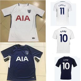 Wholesale Men S Running - 17 18 Tottenhames Kane Home spurs Soccer Jersey 2017 2018 away SON Mason Lamela Alli Lloris men football Running shirt