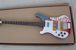 chitarre basse a sinistra Sconti Left Handed Wholesale Custom 4003 Bass 4 corde basso elettrico chitarra Deluxe strisce chitarra cinese