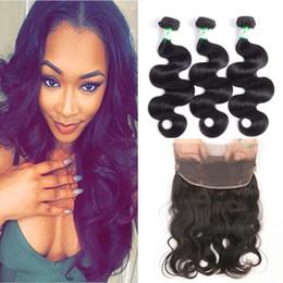 Wholesale 2pcs Bundles Closure - Body Wave Brazilian Human Hair Products With 360 Lace Frontal closure 2Pcs Brazilian Virgin Hair Bundles with 360Lace Frontal Closure 22*4*2