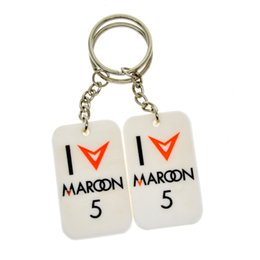 Wholesale Silicon Dog - Hot Sell 1PC Maroon 5 Silicon Dog Tag Keychain, Great To Use In Benifits Gift For Music Fans