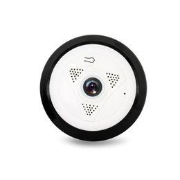 Wholesale Wireless Cameras Zoom - HD 960P P2P Network Wireless 360 Panoramic Fisheye digital zoom IP Camera baby surveillance camera White